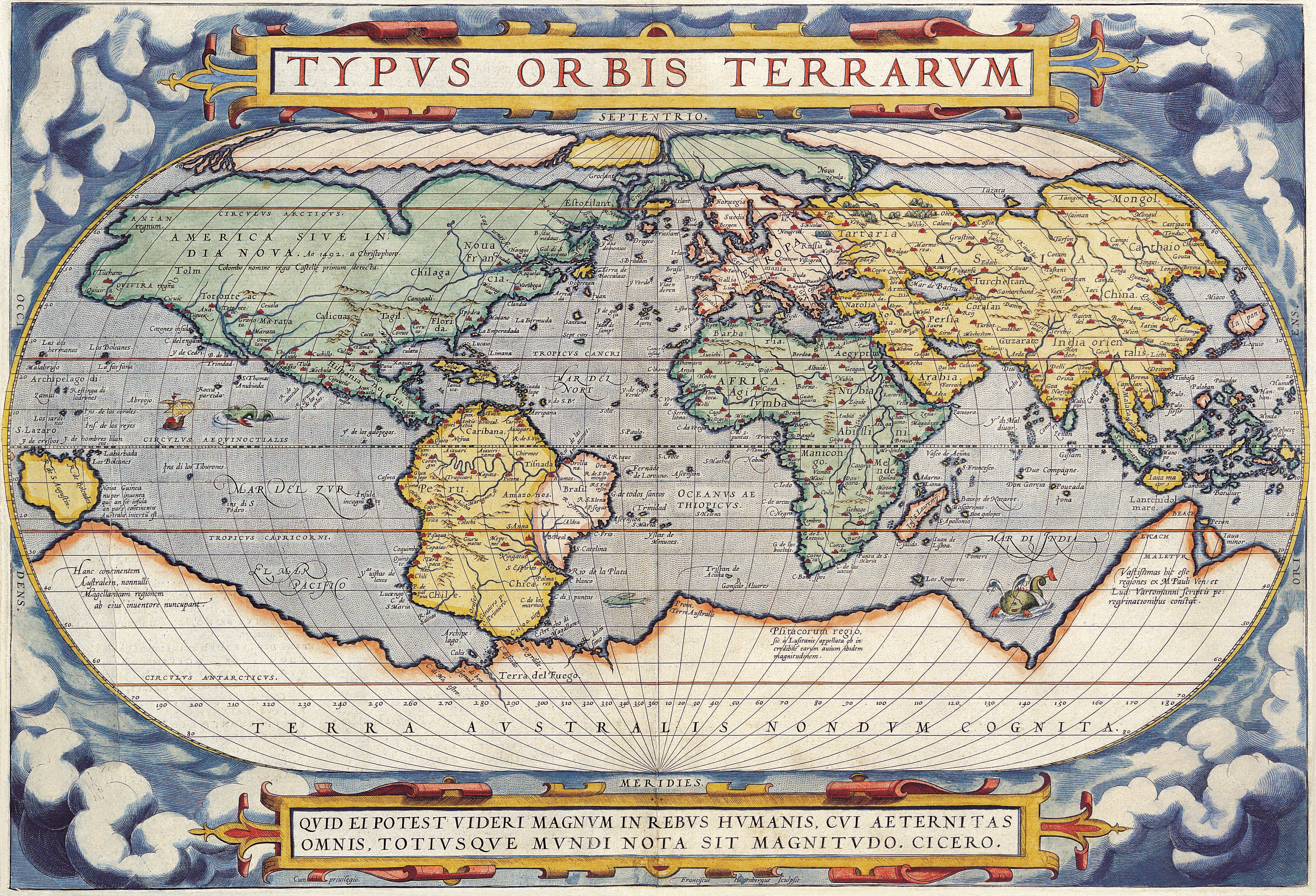 Oldest Known World Map.Antique Maps Of The Worldmap Of The Worldabraham Orteliusc 1570